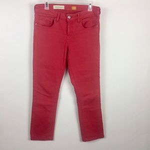 Pilcro and the Letterpress Red Jeans Women Size 29
